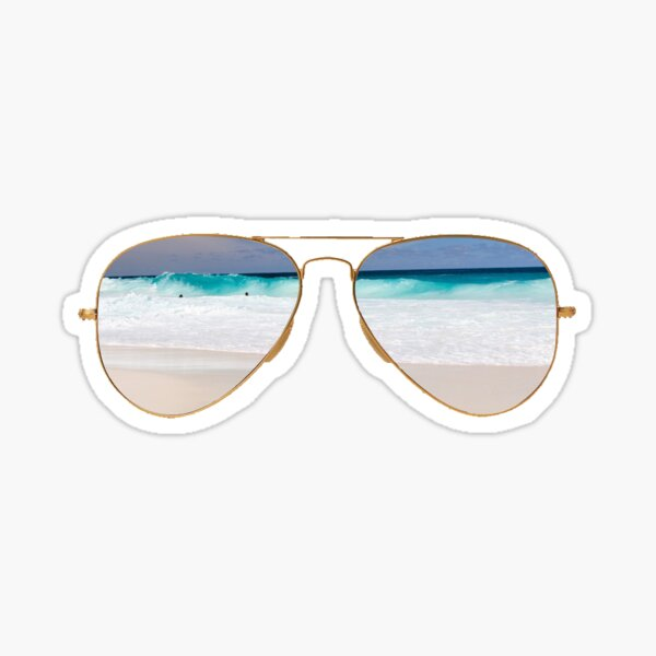 Beach Ray Bands Sticker