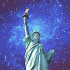 Statue of Liberty - Night Sky by Barbny