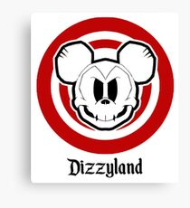 Dizzyland Mouse Skully Canvas Print