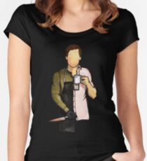 DEXTER MORGAN'S Women's Fitted Scoop T-Shirt