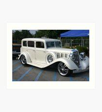Pearl White Cadillac Art Print