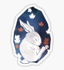 Sleepy Bunny Sticker