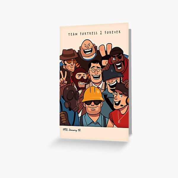 Team Fortress 2 / All Class Greeting Card