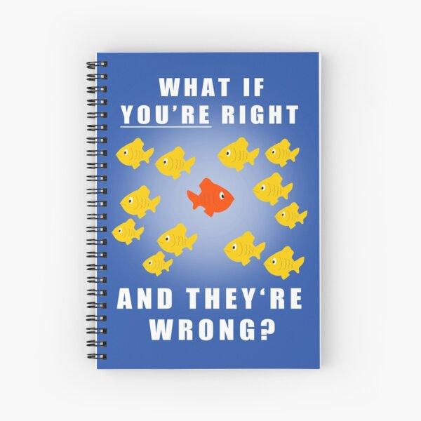 Fargo fish Spiral Notebook