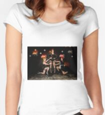 Hullywood Icons -  Emma Palmer, Sophie Buckley,  Zoe Lyon Women's Fitted Scoop T-Shirt