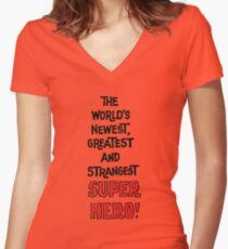 Newest Greatest Strangest Women's Fitted V-Neck T-Shirt