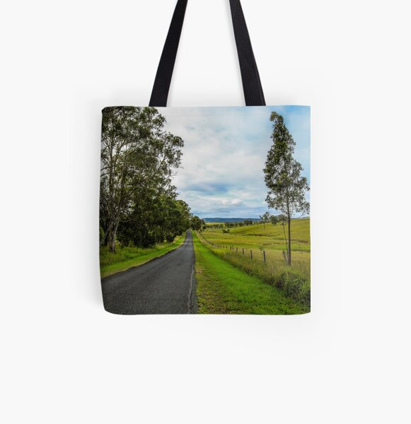 Country Roads - Out Near Mt Barney All Over Print Tote Bag