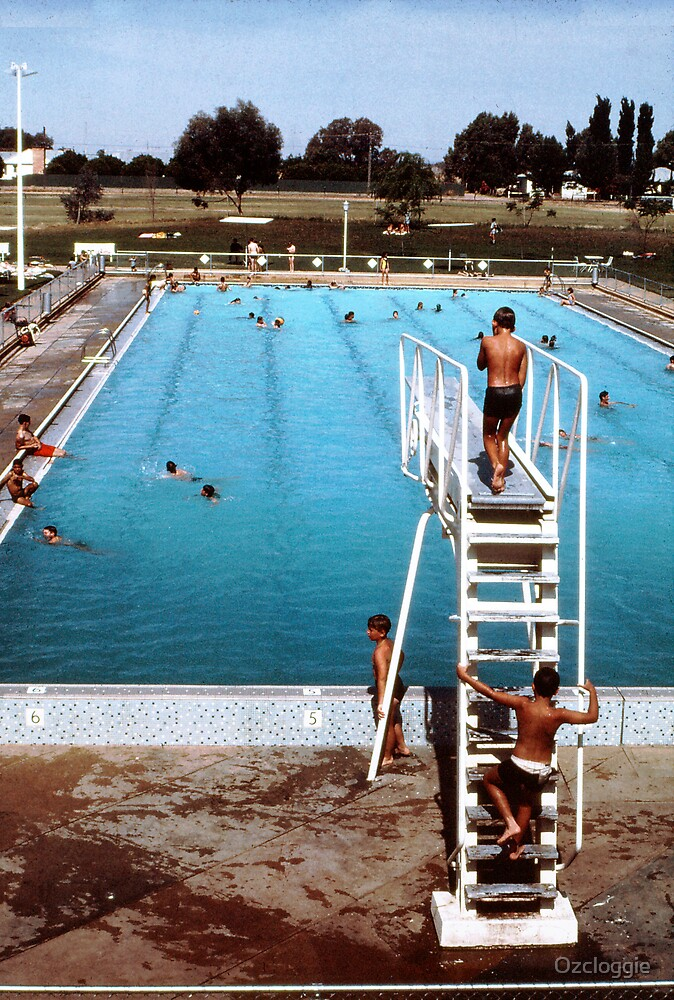 Mun. pool, Bourke, '68  by Ozcloggie