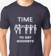 Time To Say Goodbye (Team Groom / Stag Party) White Slim Fit T-Shirt