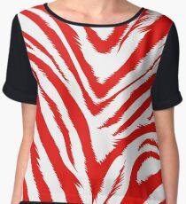 Red zebra skin Chiffon Top