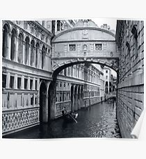 The Bridge of Sighs in Venice Italy Travel Water Architecture Landscape Poster