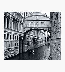 The Bridge of Sighs in Venice Italy Travel Water Architecture Landscape Photographic Print