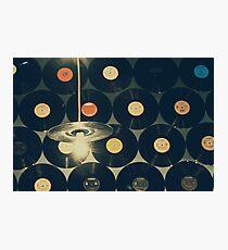 Retro Vinyl Discs On Wall Photographic Print