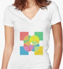 4x Colour  Women's Fitted V-Neck T-Shirt