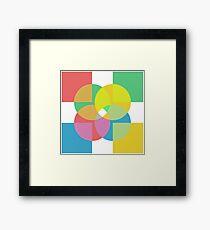 4x Colour  Framed Print