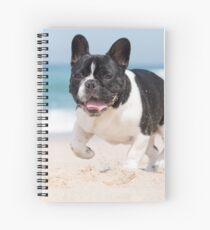 French bulldog on the beach Spiral Notebook