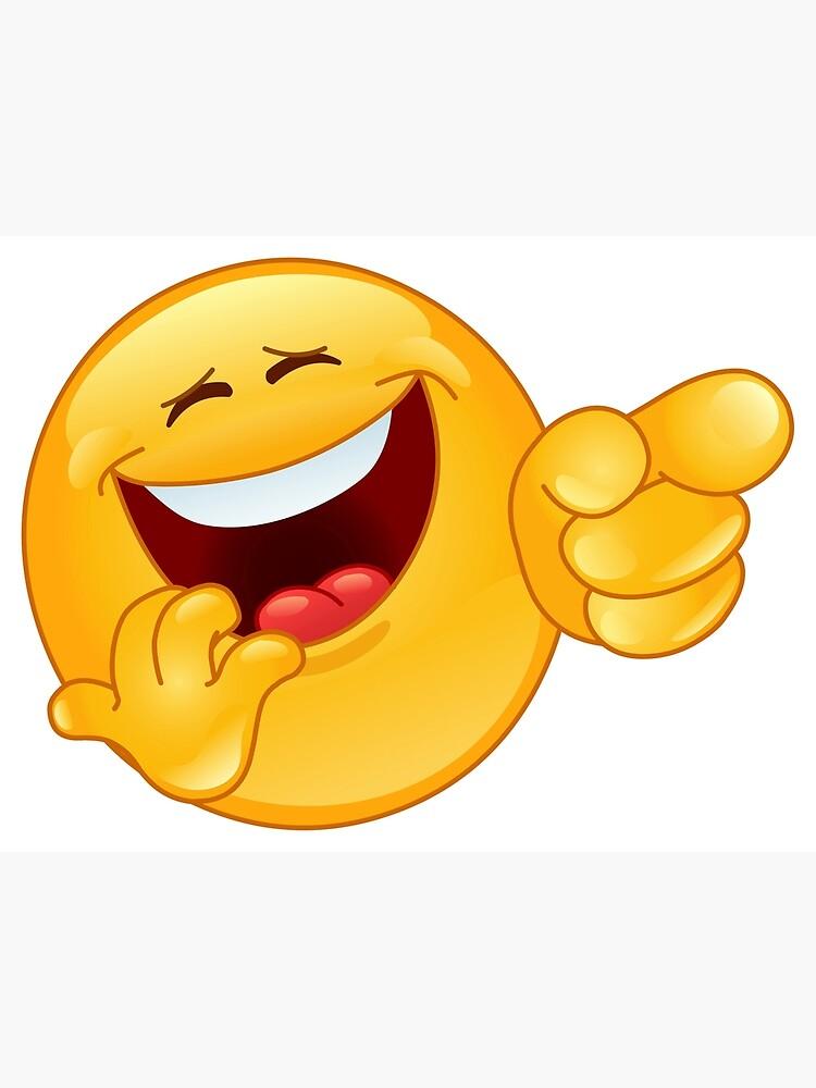 Laughing emoji pointing