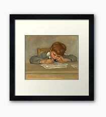 Auguste Renoir - The Artists Son, Jean, Drawing, 1901 Framed Print