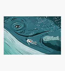 Whale dive Photographic Print