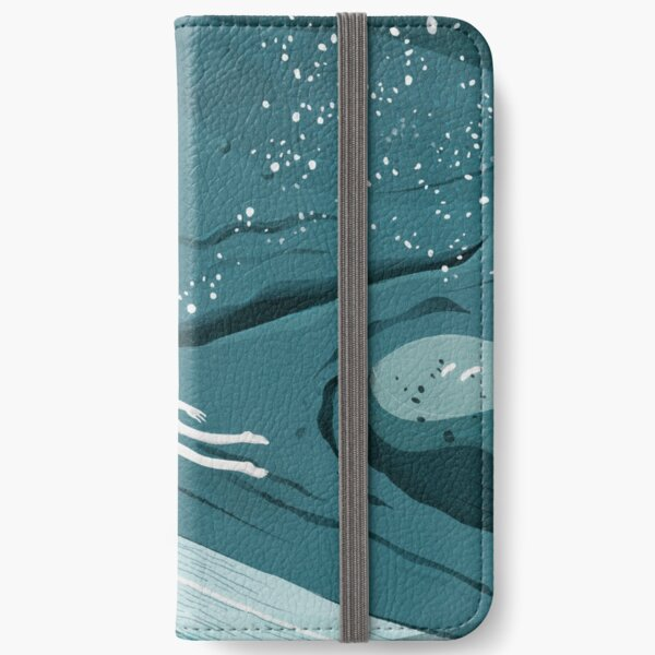 Whale dive iPhone Wallet