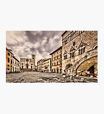 Todi Town Square Photographic Print