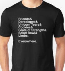 Helvetica - Limbs Unisex T-Shirt