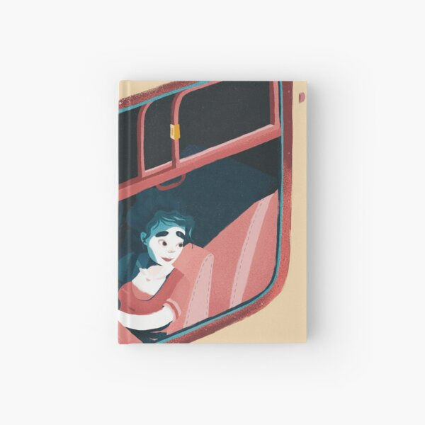 Train ride Hardcover Journal