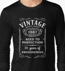Vintage Limited 1987 Edition - 30th Birthday Gift Long Sleeve T-Shirt