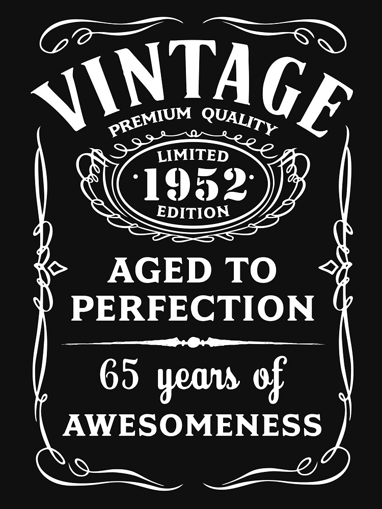 TShirtGifter Presents Vintage Limited 1952 Edition
