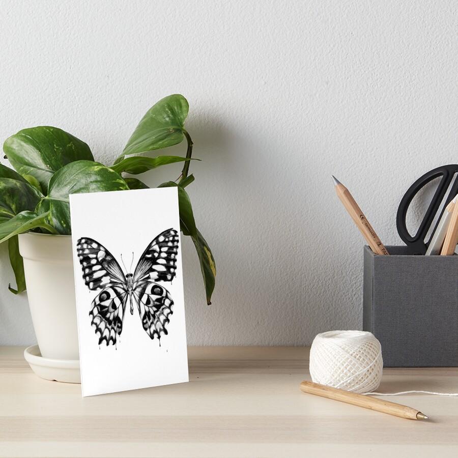 Black butterfly Art Board Print