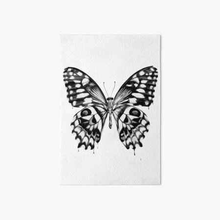 Schwarzer Schmetterling Galeriedruck