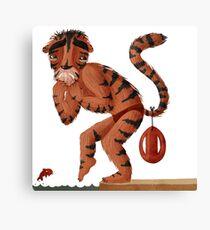 Freezing Tiger Lifeguard Canvas Print