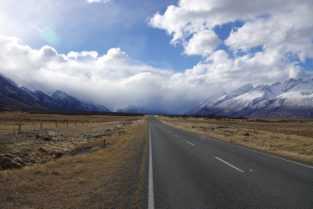 Road to Aoraki/Mt Cook, New Zealand by Geoff46