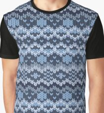 Knitted geometric pattern Graphic T-Shirt