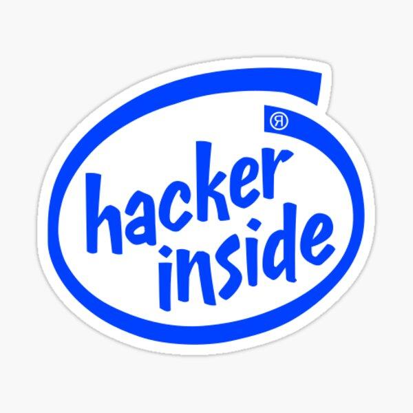 Hacker Inside Logo Sticker