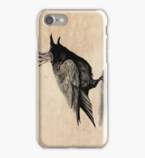 Crow in crown iPhone Case/Skin