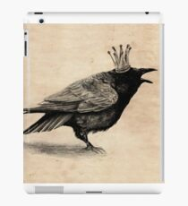 Crow in crown iPad Case/Skin