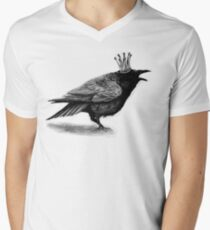 Crow in crown Men's V-Neck T-Shirt