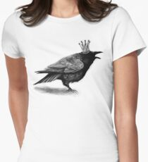 Crow in crown Women's Fitted T-Shirt