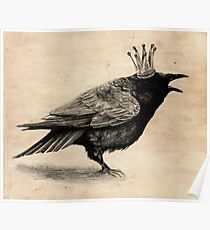 Crow in crown Poster