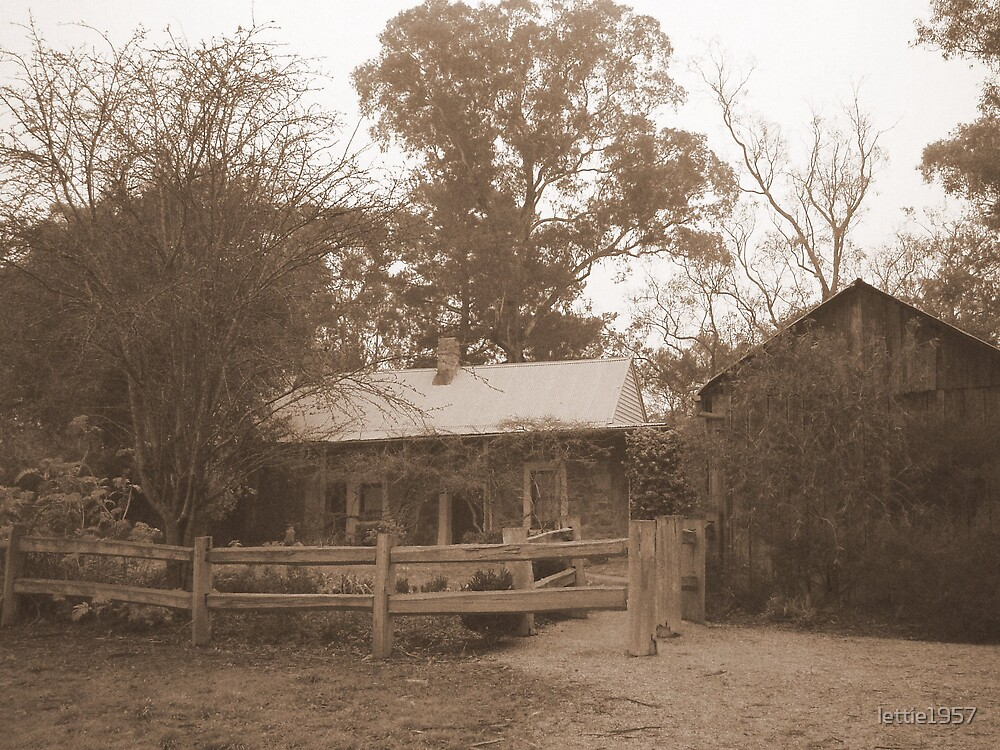 Schwerkolt Cottage in Sepia  by lettie1957