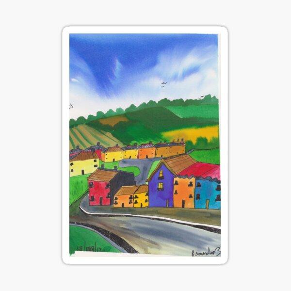 imagination town Sticker