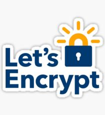 Let's encrypt sticker Sticker