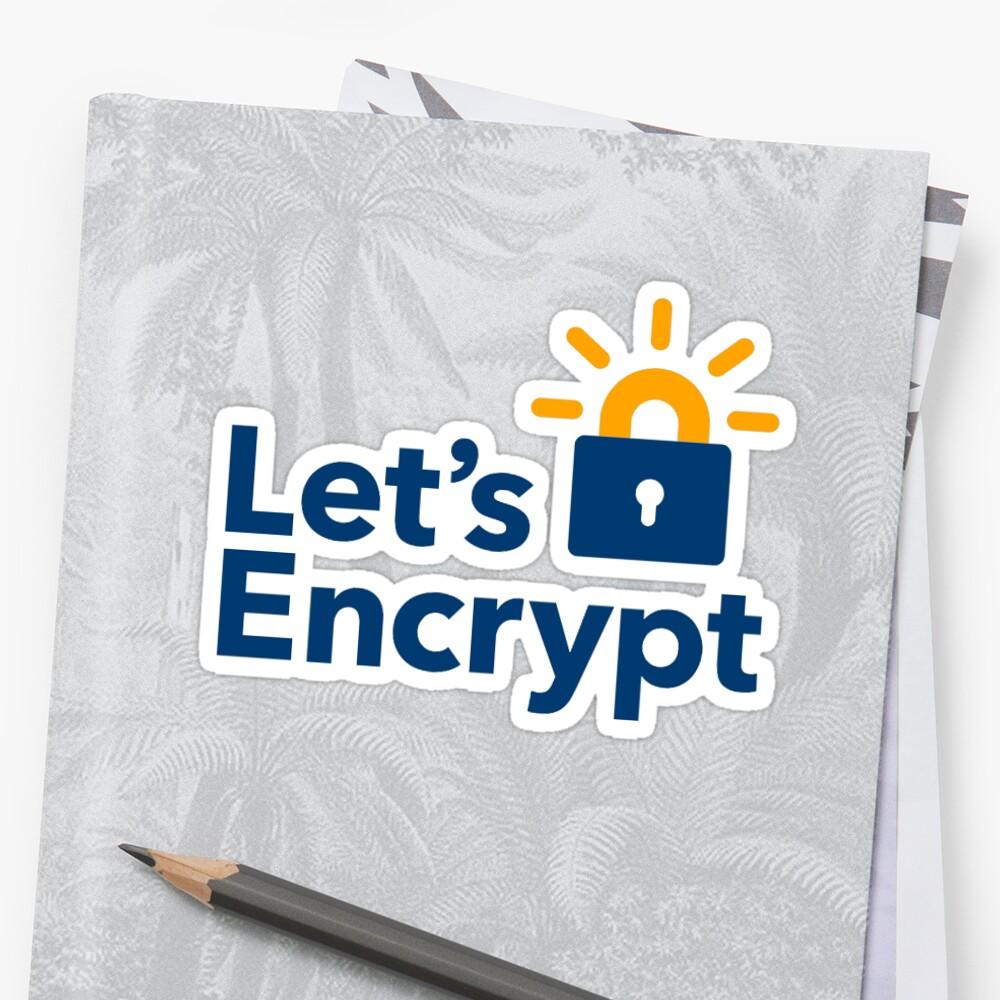 """Let's Encrypt Sticker"" Stickers By Rimek"