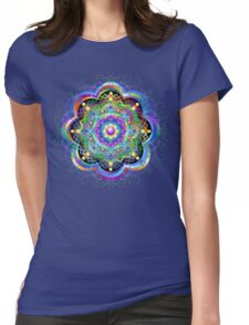 Mandala Universe Psychedelic  Womens Fitted T-Shirt
