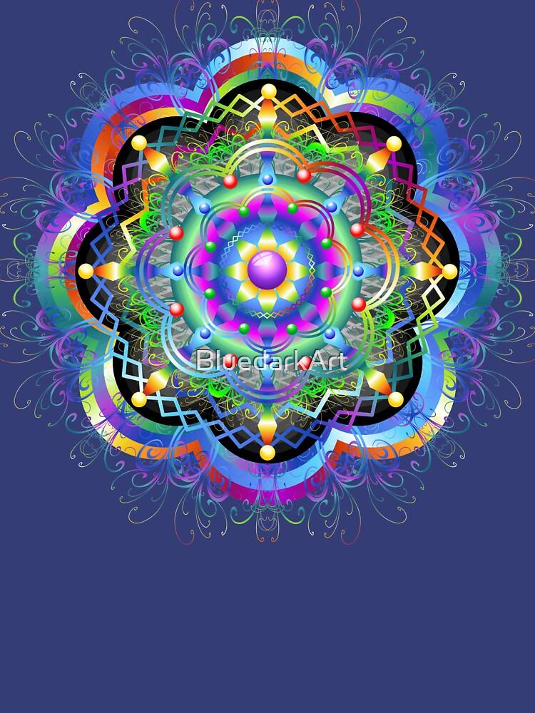 Mandala Universe Psychedelic  by BluedarkArt