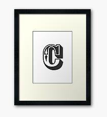 C Initial, Letter, Alphabet Framed Print