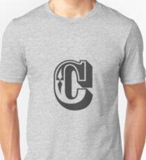 C Initial, Letter, Alphabet Unisex T-Shirt