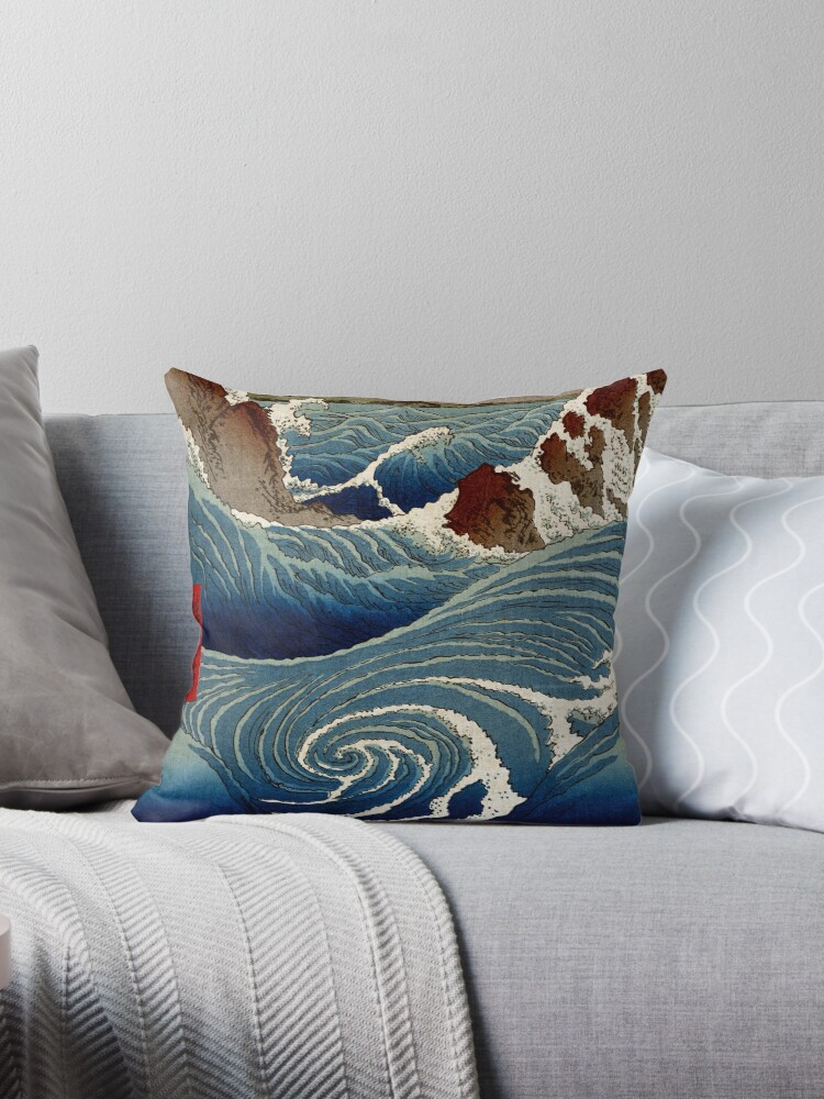 Excellent Ando Hiroshige Naruto Whirlpool Awa Province Throw Pillow By Pdgraphics Machost Co Dining Chair Design Ideas Machostcouk