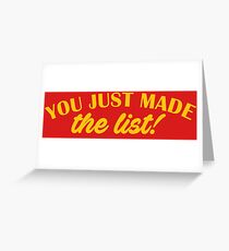 Chris Jericho - You Just Made The List Greeting Card